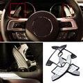Fibra de carbono ABS Volante Paddle Shift Shifter de Extensión Para Ford Mustang 2015
