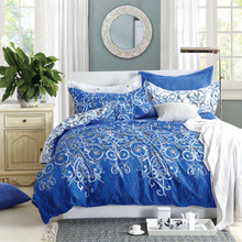 Фотография 4 pc blue&white porcelain series suite double quilt cover bedding set christmas gift for home