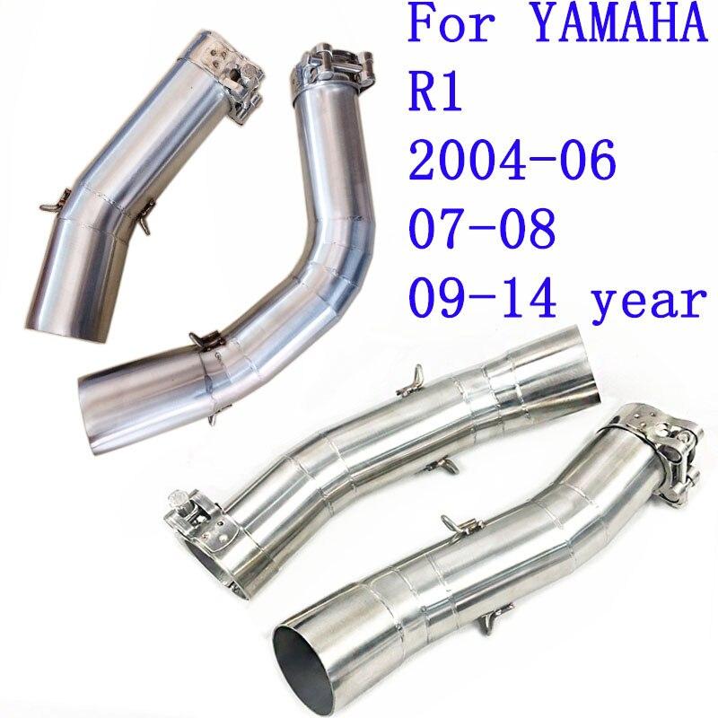 Аксессуары для мотоциклов выхлопная труба средней длины для YAMAHA YZF-R1 YZF R1 2004 2005 2006 2009 2010 2011 2012 2013 2014 AK114