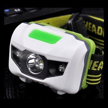 Precio de coste XPE + 3LEDs Mini faro linterna 3 modos Blanco/rojo impermeable linterna de cabeza 3 * AAA