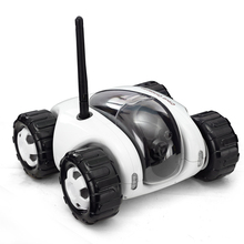 NEW 2016 Mini RC I Spy WIFI Tank Car Video Security H.264 1.0MP Camera  WiFi Remote Control By Iphone Android Robot