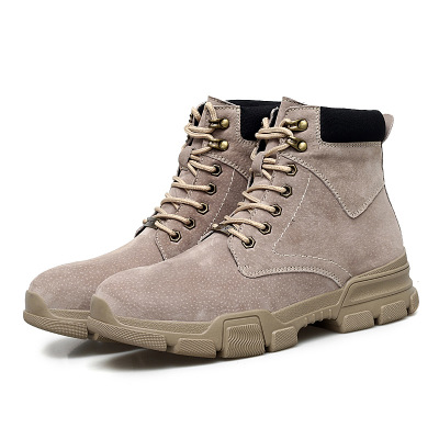 Autumn and winter men's high desert short leather trend tooling military boots wild England  boots men's shoes
