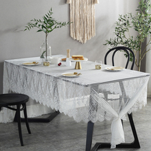 White Eyelash Lace Edging Floral Table Cloth Romantic Wedding Tablecloth Modern Nappe De Table Mariage Hotel Wedding Decoration костюм vera nicco vera nicco mp002xw1htuy