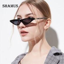 SHAMUS Mini Cateye Sunglasses Shades 2018 Designer de Moda Feminina Pequena  Lente de Óculos De Sol Lady Óculos Vogue Óculos de S.. bc8bd541f5