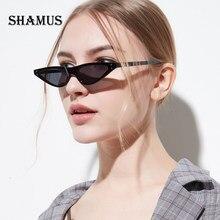 SHAMUS Mini Cateye Sunglasses Shades 2018 Designer de Moda Feminina Pequena  Lente de Óculos De Sol Lady Óculos Vogue Óculos de S.. 444f53b50c