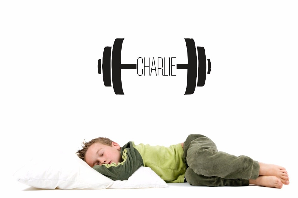 Sport Wall Decals Boy Personalized Name Baby Any Room Gym Vinyl Decal