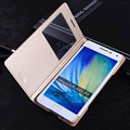Кожаный чехол-книжка с окошком для Samsung Galaxy A3, A5, A7, цвета в ассортименте