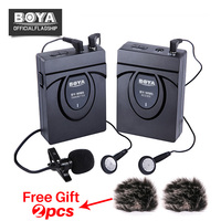 BOYA BY WM5 Wireless Lavalier Lapel Microphone System For ENG EFP Nikon Canon Sony DSLR Camera