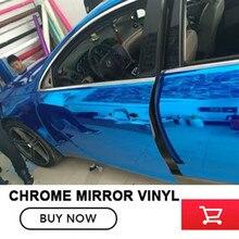 20M Vehicle blue car body color change film Mirror film chrome vinyl car wrap for Auto