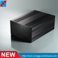 145 82 N Mm W H L Electronics Box Aluminum Housing Extruded Profile Anodized In Black