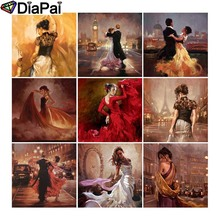 DIAPAI Diamond Painting 5D DIY Full Square/Round Drill beauty dancing scenery 3D Embroidery Cross Stitch 5D Decor Gift цена
