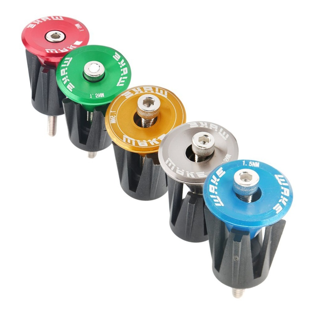 1 Pairs Aluminum alloy Bike Grips Bar End Caps Plug Road Bicycle Handle For C4R4