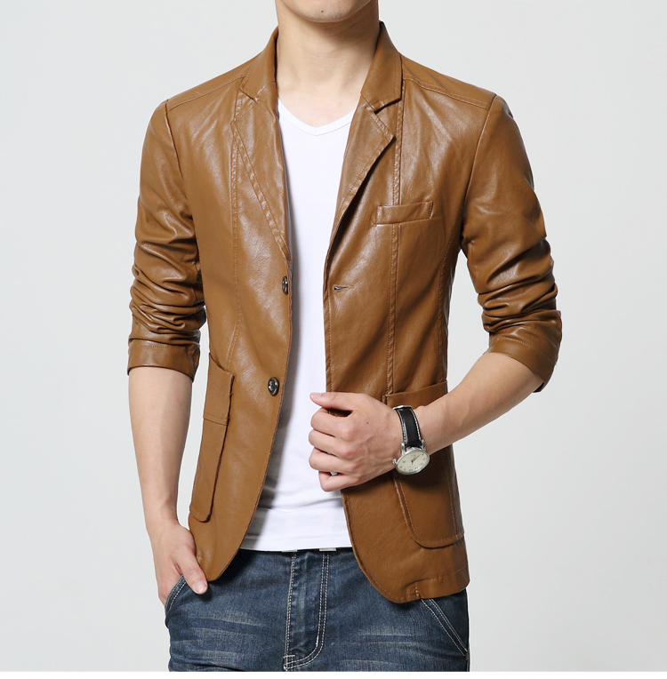 Popular Mens Brown Leather Blazer-Buy Cheap Mens Brown Leather ...