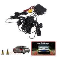 Pantalla Digital de CPU de doble núcleo para coche, Sensor de aparcamiento con vídeo, Radar de respaldo inverso automático, asistencia con alarma de aumento