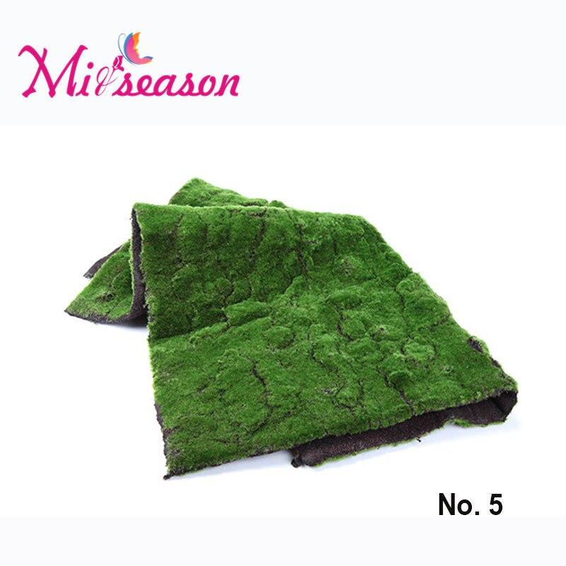 1 M * 1 M No.5 Artificielle Touffue Mousse Gazon Faux Mur Végétal Décoration Herbe Micro Paysage Fleur Décorative De Plancher De Mariage Décor