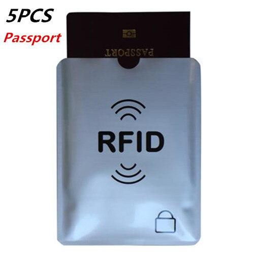 5PCS Thicken Aluminum Foil Anti Rfid Blocking Passport Holder New Protector Cover 2018