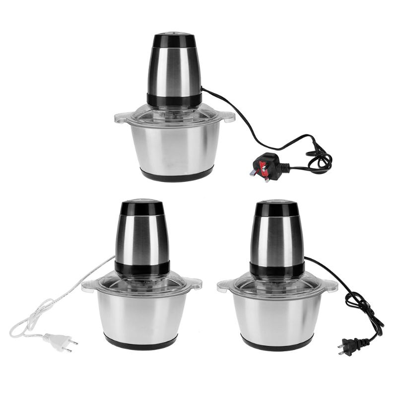 350w 2L Stainless Steel Electric Meat Mincer blender Grinder Chopper EU US UK Plug Grinder Machine for Kitchen Household