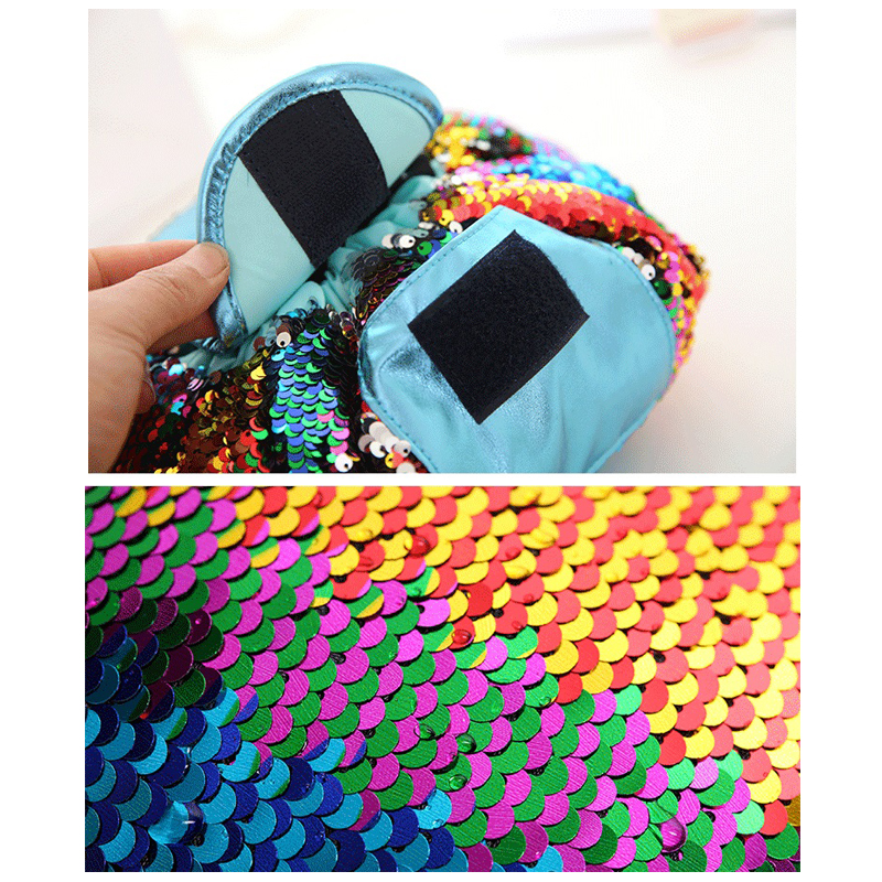 ad8b09139277 2018 Magic Mermaid Sequins Travel Pouch Lazy Drawstring MakeUp Bag Women  Organizer Storage Artist Lady s for Cosmetic Toiletries-in Cosmetic Bags    Cases ...