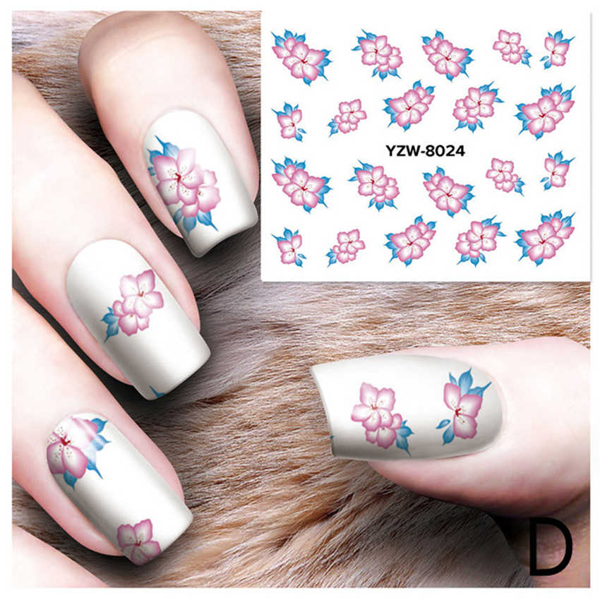 OutTop Stickers for nails DIY Nail Applique Adhesive Flower Rattan Nail Sticker Lace Design Nail Paste french manicure G24 0.5 5