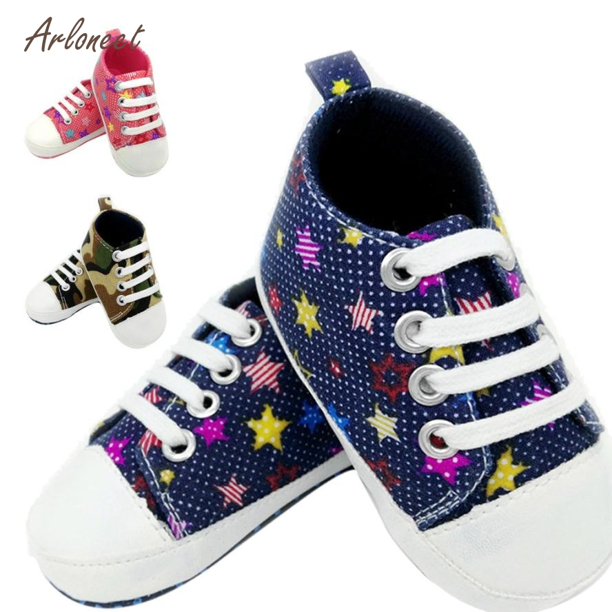 ARLONEET 2018 Kids Shoes Baby Girls Boys Shoes Sneaker Anti-slip Soft Sole Toddler Colorful Canvas Shoes Dropshipping Mar20