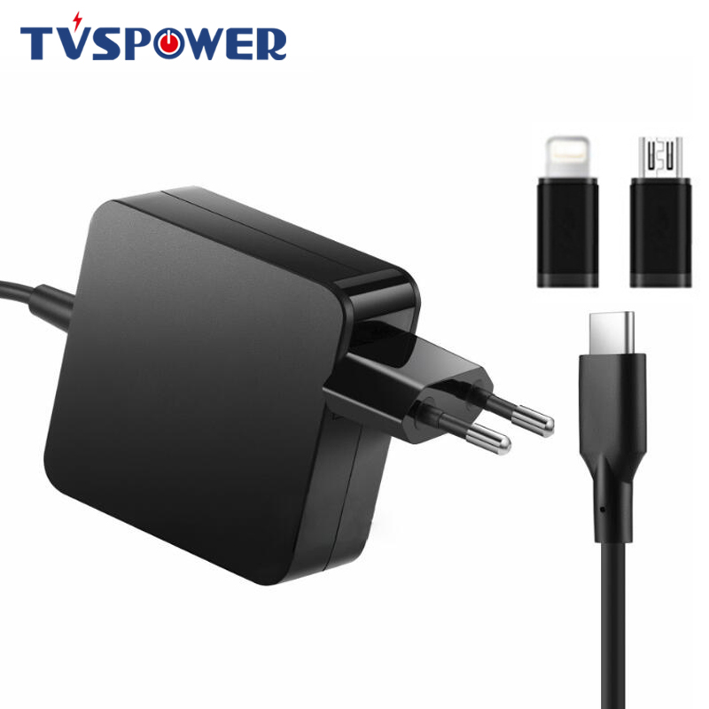 65W USB Type-C Laptop <font><b>Adapter</b></font> Charger for Macbook Lenovo Asus HP Dell Xiaomi Huawei 20V 3.25A 15V 3A <font><b>9V</b></font> 12V 5V 2A <font><b>AC</b></font> <font><b>Power</b></font> 61W image