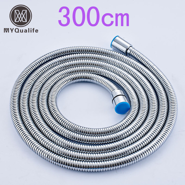 Stainless Steel 3M Flexible Shower Hose Bathroom Water Hose Replace ...