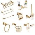 Европейский Золотой набор оборудования для ванной комнаты  Античный кристалл  аксессуары для ванной комнаты  настенное покрытие для полиро...