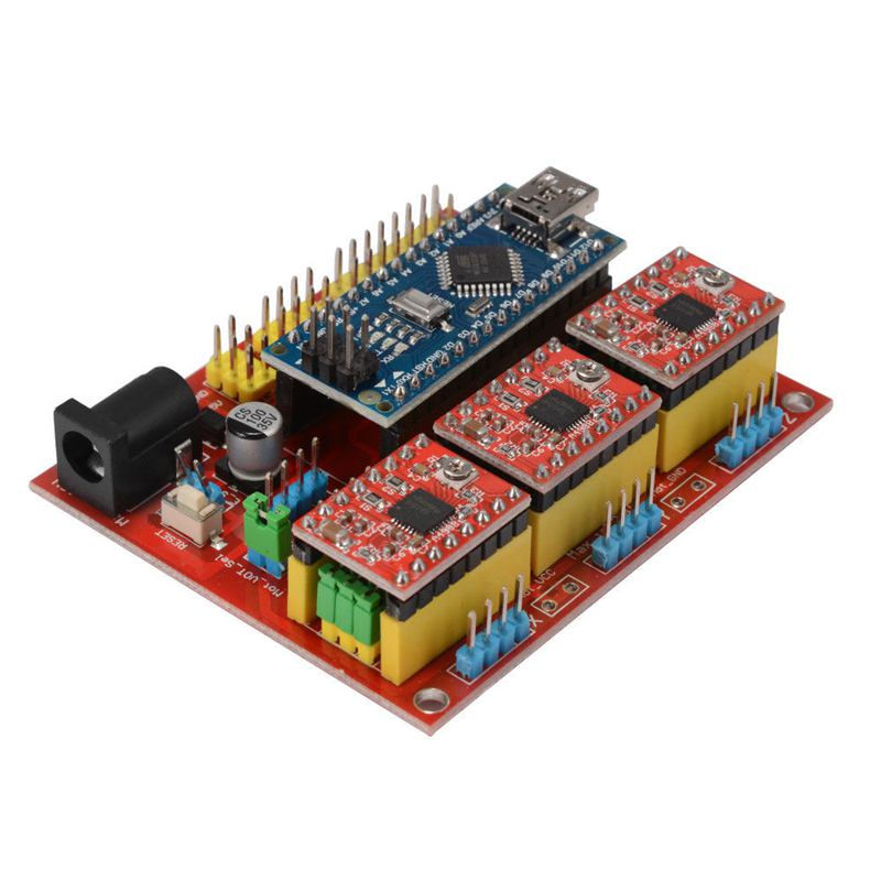 CNC Shield V4 Expansion Board Nano 3.0 Stepper A4988 Driver for Arduino 3D Printer TE732-in 3D Printer Parts & Accessories from Computer & Office