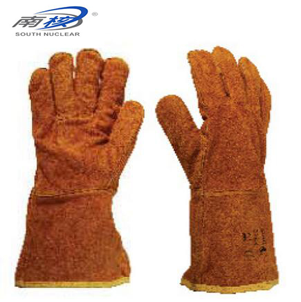 SOUITH NUCLEAR 41507/41508 Welding Gloves Wear-resistant Cotton lining glove Insulated leather Material Gloves Size L-XL JB004