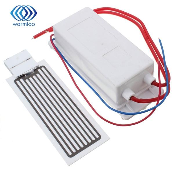 ФОТО AC 220V 10g/h supply Ceramic Plate Ozone Generator Air Purifier Kit