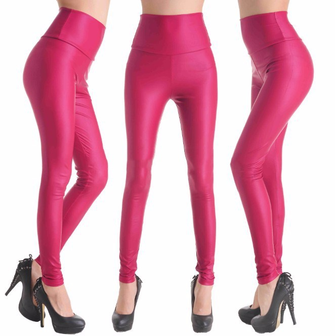 2017 New Women Sexy Leggings Faux Leather Stretch Legging High Waist Leggings Juniors Pants 4 size 21 Colors 15