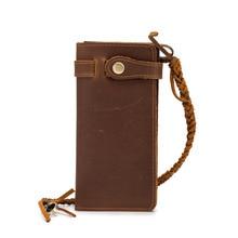RFID magnetic anti-theft retro leather mens wallet crazy horse long 20 % fold zero wholesale 6018