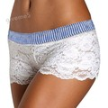 Summer women shorts fashion Fashion striped White Women Girl Elastic Casual Shorts sexy sweet Lace Short Pants 63*