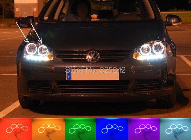 For Volkswagen VW Golf 5 V MK5 2003-2009 Excellent Angel Eyes kit Multi-Color Ultra bright RGB LED Angel Eyes Halo Rings volkswagen golf plus 2005 2009