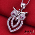 LSP891 925 silver pendants cartoon zircon pendants micro pave setting, free shipping
