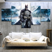 5Panel HD Printed A superman Batman Bruce Wayne Cartoon characters Print On Canvas Art Painting For home living room decoration
