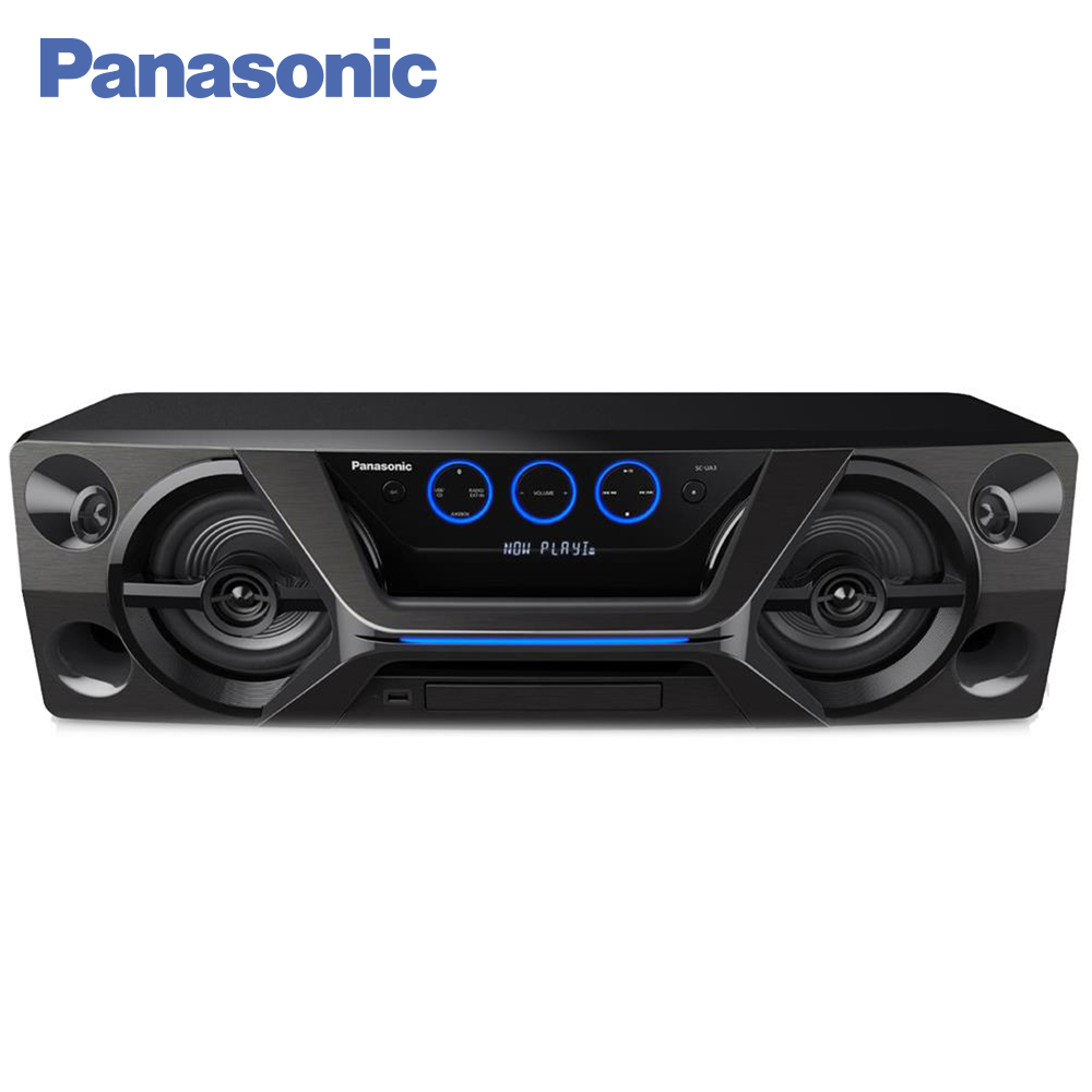 Panasonic CD Players SC-UA3GS-K Vinyl cd player portable Music Center Cassette player Radio Boombox panasonic cd players sc hc400ee k vinyl cd player portable music center cassette player radio boombox