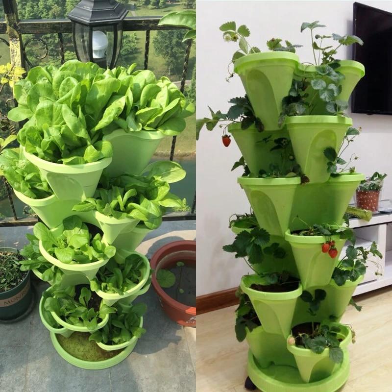 3 Tier Stackable Strawberry Herb Flower Vegetable Planter Balcony kitchen  Succulent Pots Home Garden Decoration Nursery Pots|Flower Pots & Planters|  - AliExpress