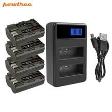 цена на Bonacell 7.2V 2800mAh BP-511 BP-511A BP 511A Battery+LCD Dual Charger For Canon EOS 40D 300D 5D 20D 30D 50D 10D D60 G6 L10