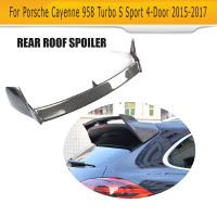 Carbon Fibre Race rear Window Spoiler lip Wing Case for Porsche Cayenne 958 Turbo S Sport 4 Door 2015 2016 2017