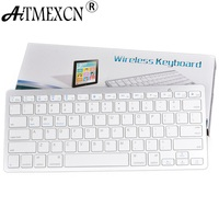Wireless Keyboard Slim Mini Russian English Bluetooth Standard Keyboard For IPad PC Android Tv Box Desktop