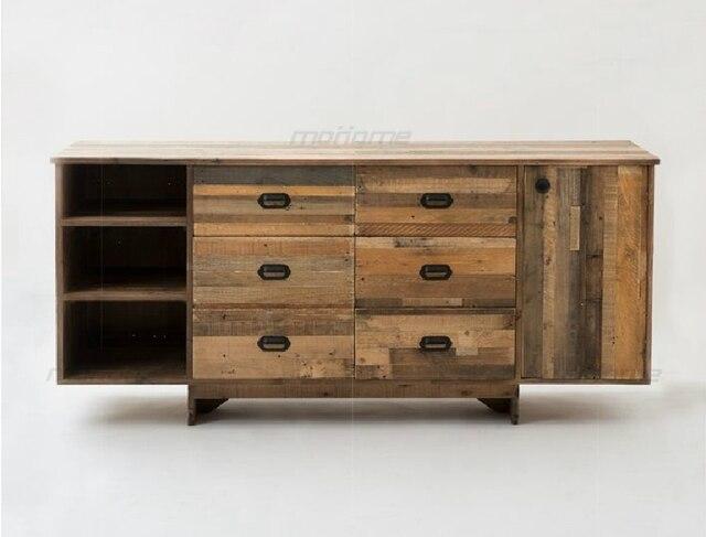 Ikea Houten Kast : Hout dressoir kluisjes ikea eenvoudige amerikaanse creatieve huis