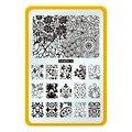 CICI y SISI Nail Nail Art Plantillas Template Nail Art Ronda flores Placas Estampación Sello Placa de la Imagen Del Clavo de DIY Herramientas 15