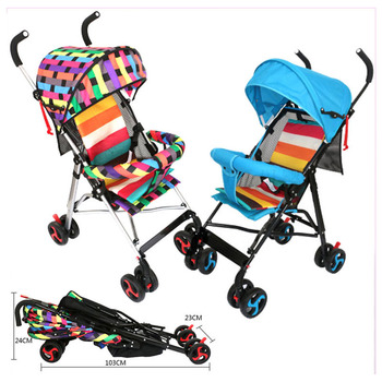 Free shippingFour Season Portable Foldable Lightweight Baby Strollers Four Wheels Adjustable Travel System Baby P