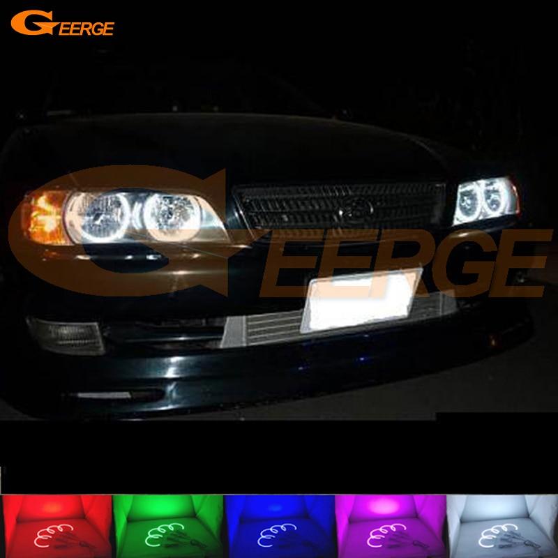 Для Тойота Чейзер JZX100 Tourer с Avente 1996 1997 1998 1999 2000 2001 превосходный Мульти-Цвет Ультра яркий RGB из светодиодов Ангел глаза комплект