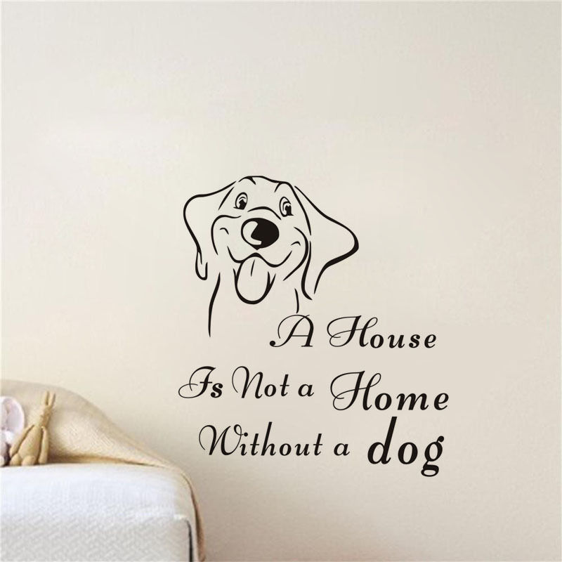 Pet Dog Vinyl Wall Stickers Quote Removable Wall Decal Home Decor - Custom vinyl wall decals dogs