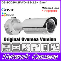 In Stock Free Shipping English Version Bullet Camera DS 2CD2642FWD IZS 4MP WDR Vari Focal Network