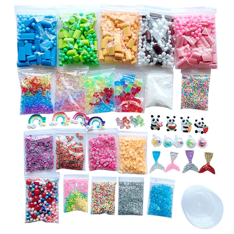 Slime Supplies Kit Foam Beads Charms Styrofoam Balls Tools For DIY Slime Making Toys Accessories 30LY11