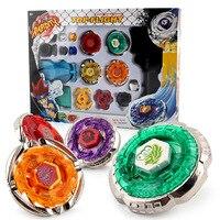 Beyblade Metal Spinning Beyblade Sets Fusion 4D 4 Gyro Box kampf Master Beyblade String Launcher Grip Für Verkauf Kinder Spielzeug geschenke