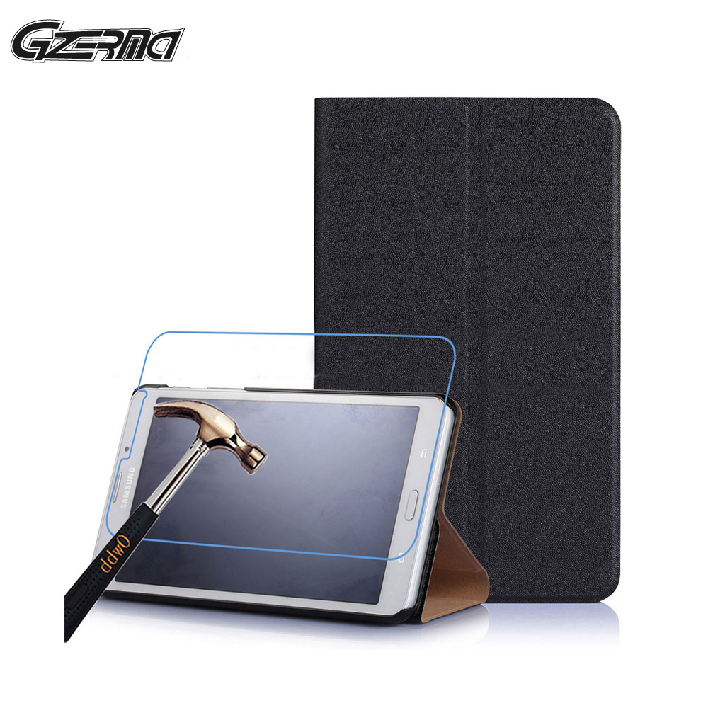 PU Leather Tablet Case For Samsung Galaxy TAB J 7.0 Full Protective Shell Stand Flip Cover Case With Screen Film